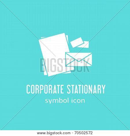 Corporate Stationary Vector Concept Symbol Icon or Label
