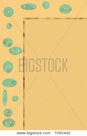 Turquoise beads staionary - letterhead