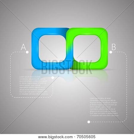 Vector illustration of bicolor Mobius ribbon