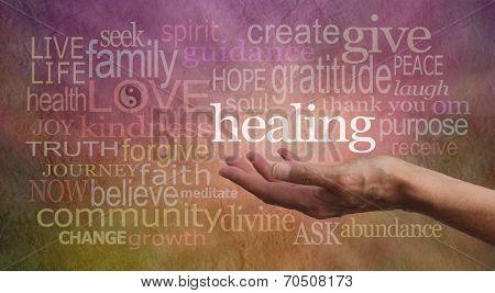 High Resonance Healing Words poster