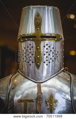 crusader, medieval armor made of wrought iron