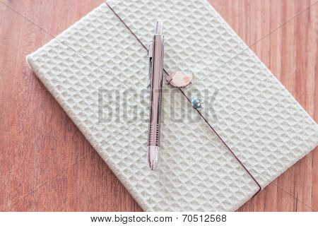 Green Cover Notebook With Pen