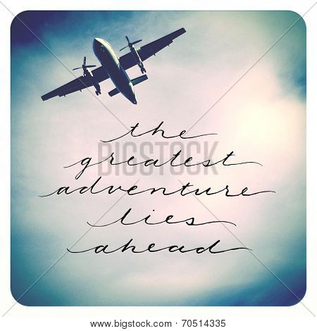 Inspirational  Quote - Airplane