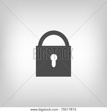 Grey lock icon