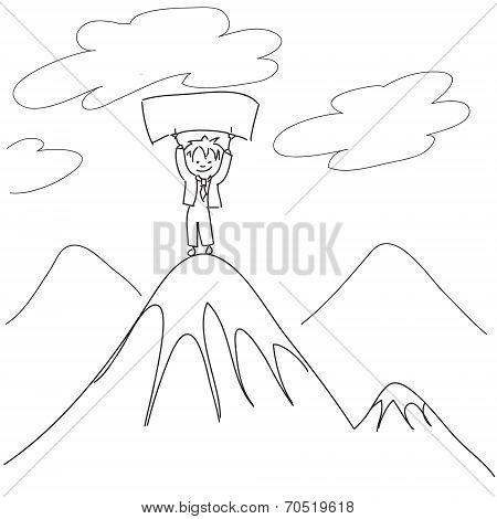Guy on the top of mount
