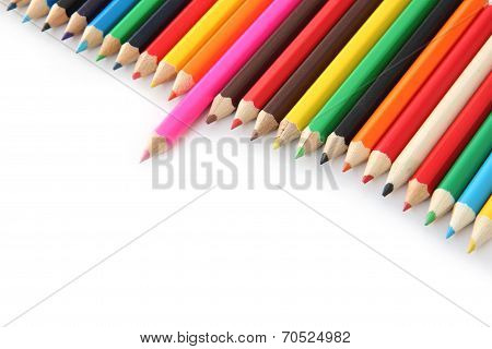 Multi Colored Crayons.