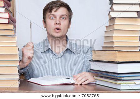 Man Between Books