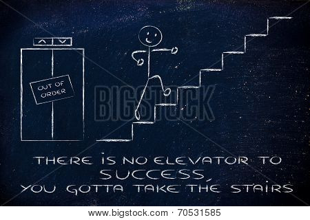 Conceptual Design Representing Steps To Reach Success