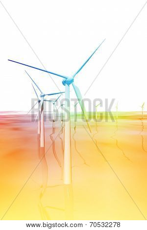 Windmills Generators In The Sea