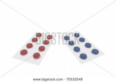 Red And Blue Pill Blisters