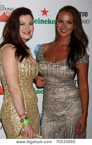 LOS ANGELES - AUG 21:  Rachel Reilly, Brittany Martinez at the OK! TV Awards Party at Sofiitel L.A. on August 21, 2014 in West Hollywood, CA
