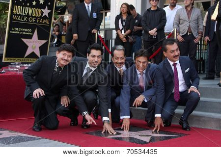 LOS ANGELES - AUG 21:  Los Tigres Del Norte at the Los Tigres Del Norte Honored On The Hollywood Walk Of Fame at Live Nation Building on August 21, 2014 in Los Angeles, CA