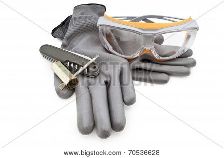 some work gloves isolated