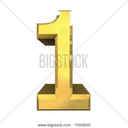 3d number 1 in gold