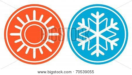 Snowflake With Sun - Season Specific Icon