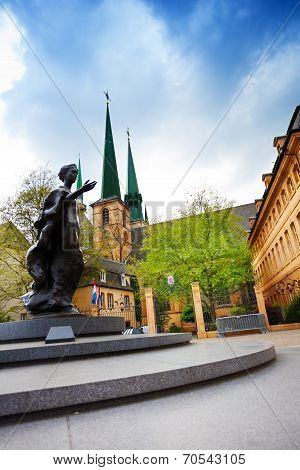 Statue of Grand Duchess Charlotte in Luxemburg