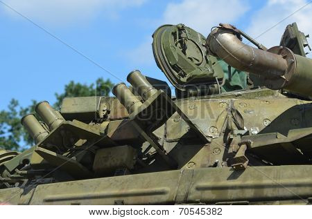KIEV, UKRAINE - JULY 13, 2014. Weapon of the Civil War in Ukraine.Central and Western Ukraine vs. Novorossia  July 13, 2014 Kiev, Ukraine