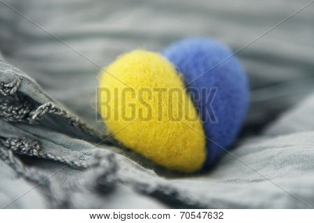 Souvenir Felt - Yellow Blue Heart Of Ukraine