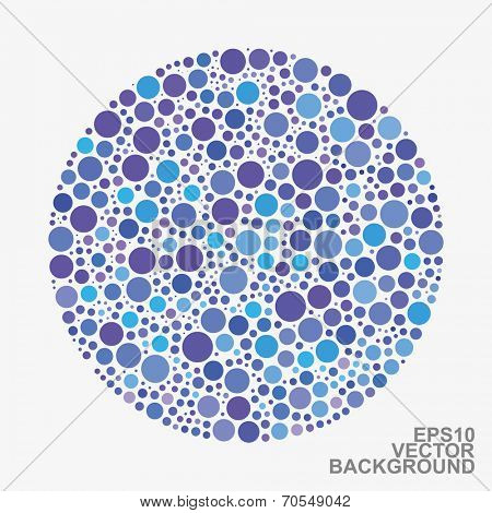 Colorful Dotted Abstract Background - Blue Circles