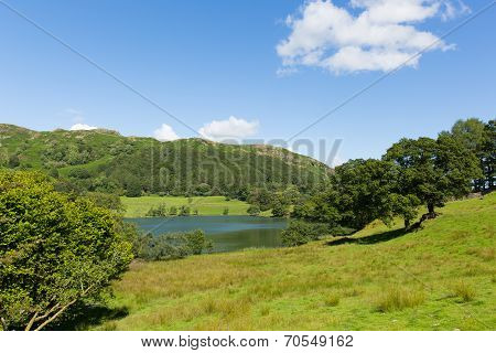 Loughrigg Tarn Lake District Cumbria England situated north of Windermere and Skelwith Bridge