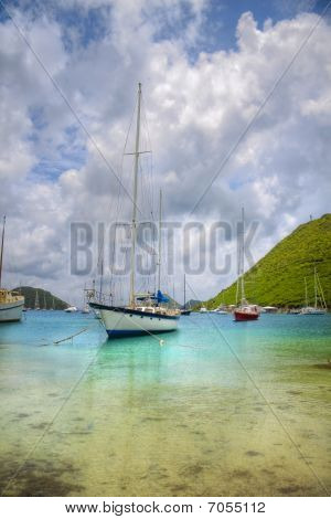 Sailboats In The Tropics