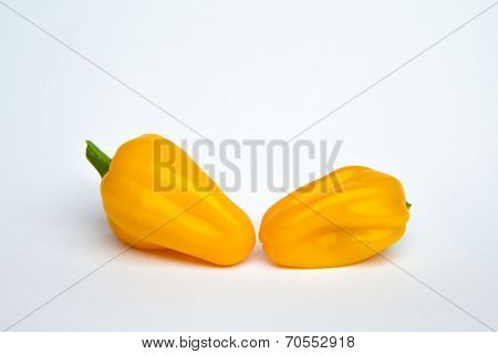 Cayenne Chili Pepper Isolated On A White Background