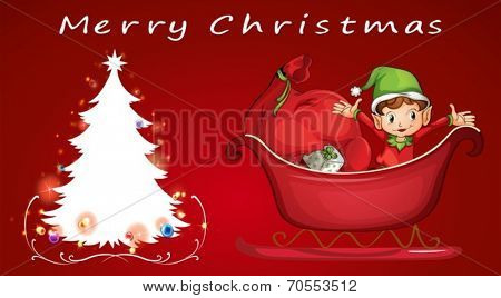 Illustration of a christmas card