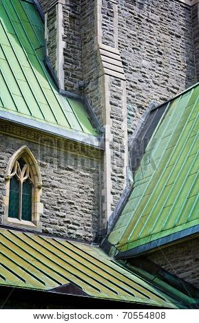 Church roofs in cascade