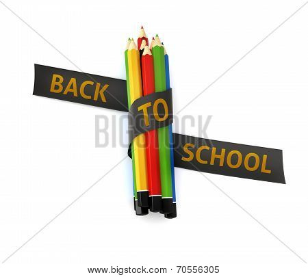 Welcome Back To School Embroidered Golden Thread On Black Ribbon