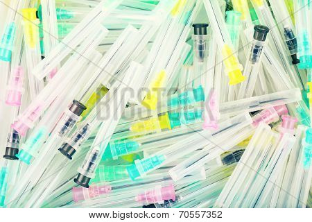 Medical Needles. Modern Injection Needles. Stylish Medical Background.