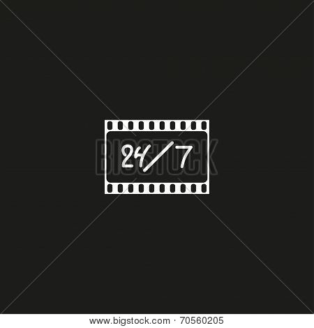 Cinema logo, movie theater sign