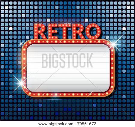 Vintage vector retro disco casino banners