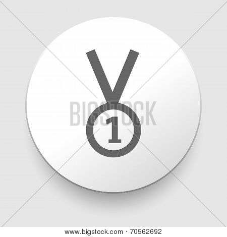 1st Position Medal Icon - vector