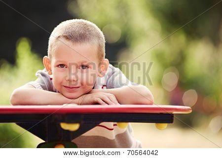Macro Handsome Young Boy Looking At Camera