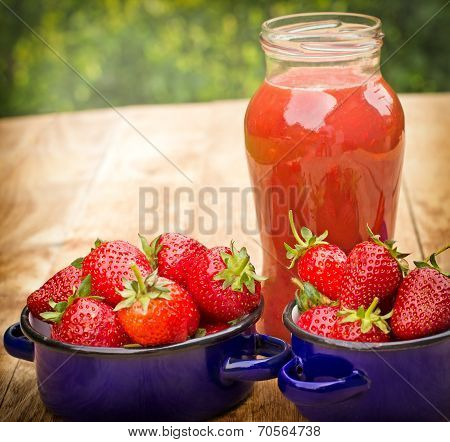 Healthy smoothie - strawberry juice