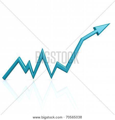 Blue Graph Up