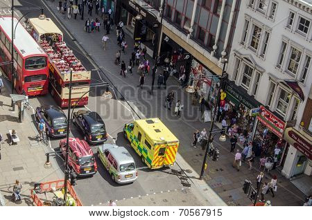 Ambulance in Oxford Street