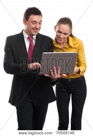 Business Meeting With Laptop