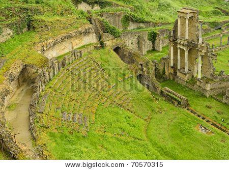 Roman Theatre In The City Of Volterra, Italy