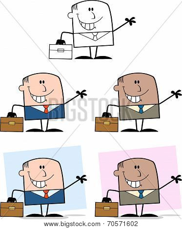 Businessman Dude Cartoon Character 10  Collection Set