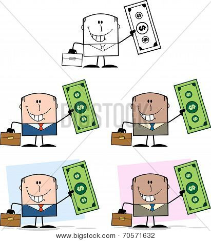 Businessman Dude Cartoon Character 8  Collection Set