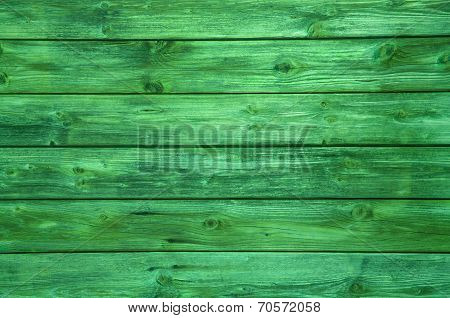 Surface Of A Green Wooden Background.
