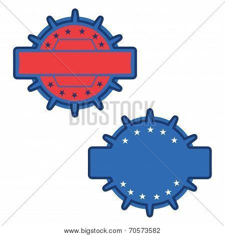 Vintage blue badges illustration