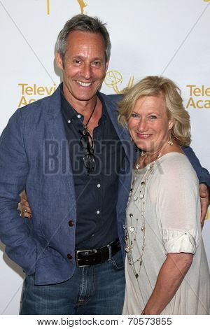 LOS ANGELES - AUG 22:  Michel Gill, Jayne Atkinson at the Television Academy�¢??s Producers Peer Group Reception at London Hotel on August 22, 2014 in West Hollywood, CA