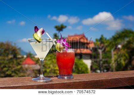 Tropical Drink - Margarita And Mai Tai
