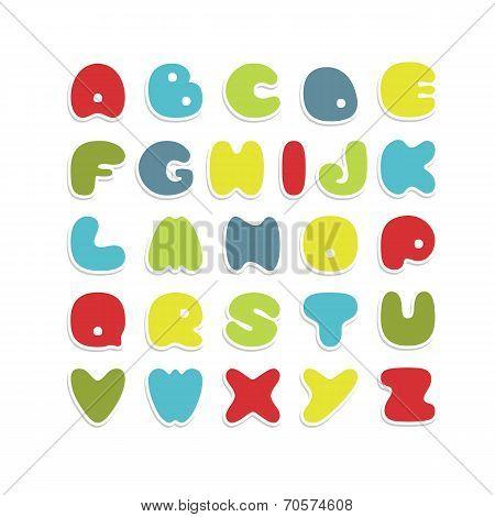 Colorful vector alphabet