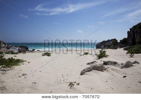 Isolated Caribbean Beach
