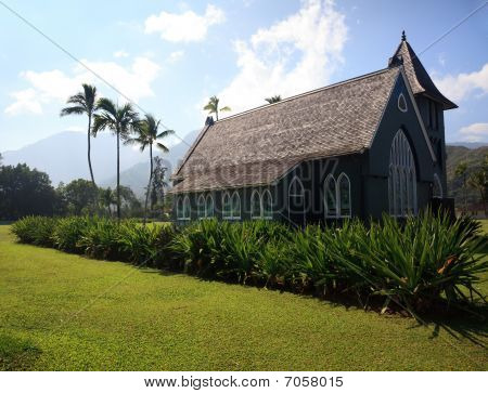 Old Wai'oli Hui'ia Church In Hanalei