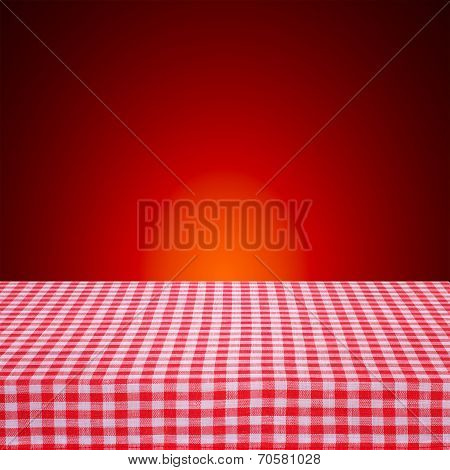 Canvas texture or background on table.