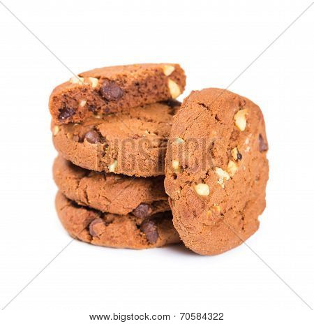 Oatmeal Cookies With Nuts And Chocolate